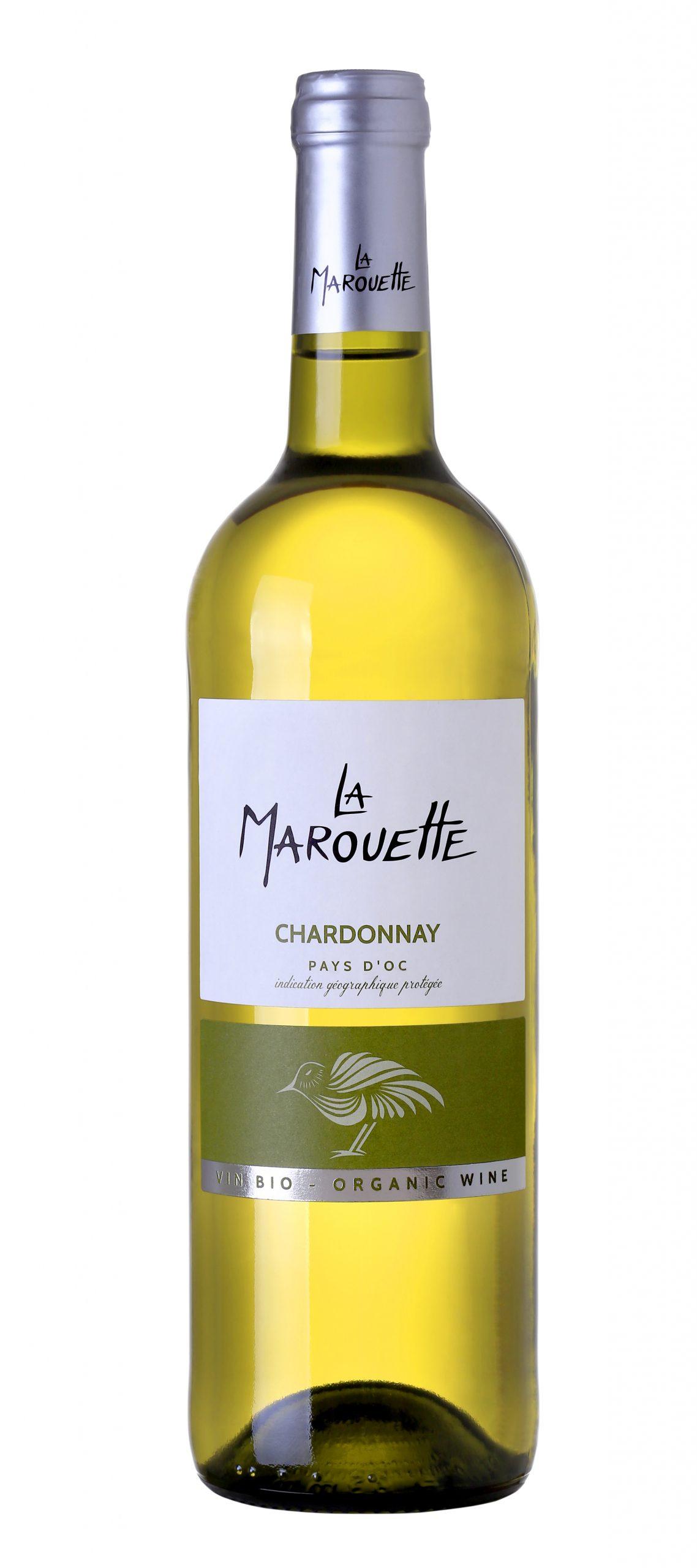 PAYS D'OC BLANC CHARDONNAY SANS SULFITES (75CL) LA MAROUETTE